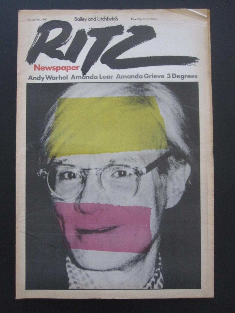 Andy Warhol, Ritz Newspaper David Bailey1980