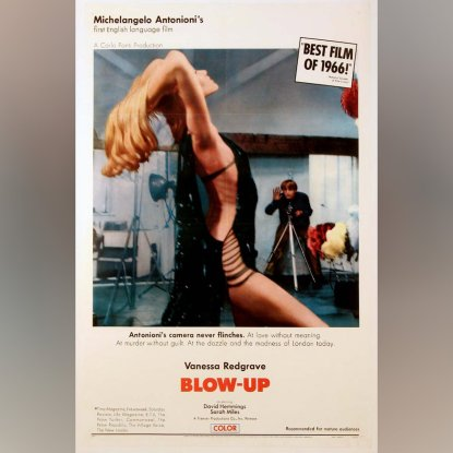 A 1967 poster of the movie Blow Up.