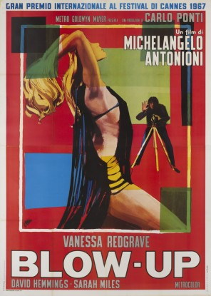 A 1967 Italian poster of the movie Blow Up.