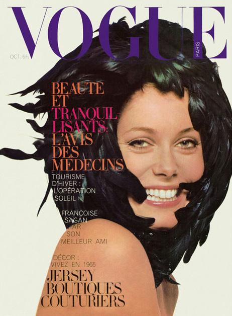 Catherine Deneuve by David Bailey for Vogue Paris, October of 1965.