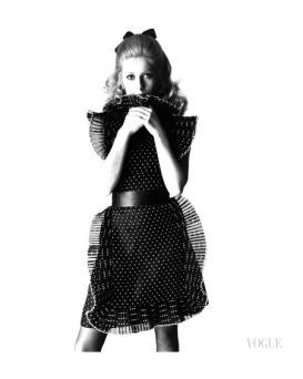Catherine Deneuve for Vogue, 1966, Photo by David Bailey