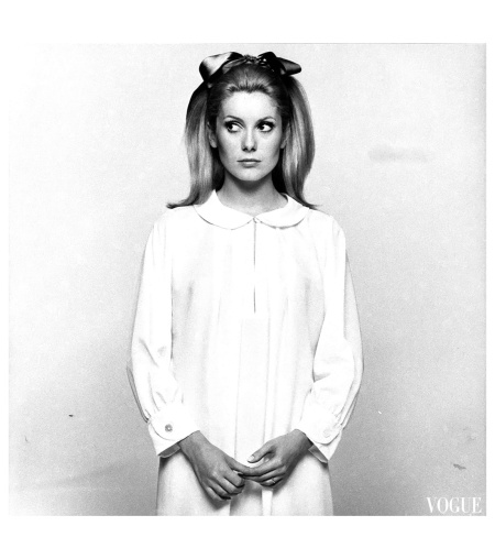Catherine Deneuve for Vogue, November 15, 1966 by David Bailey