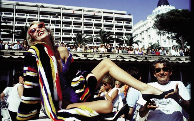 Jerry Hall and Helmut Newton, Cannes by David Bailey, 1983.