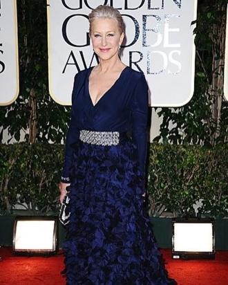 Helen Mirren at the 2013s Golden Globes.