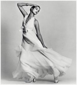 Jane Birkin, 1972, wearing Dior photographed by David Bailey.