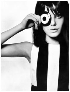 Jane Birkin Photo David Bailey for Vogue UK , June 1965.