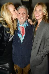 Jerry Hall, David Bailey and Kate Moss. - February 3 2014.