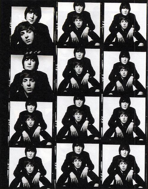 John Lennon e Paul Maccartney by David Bailey.