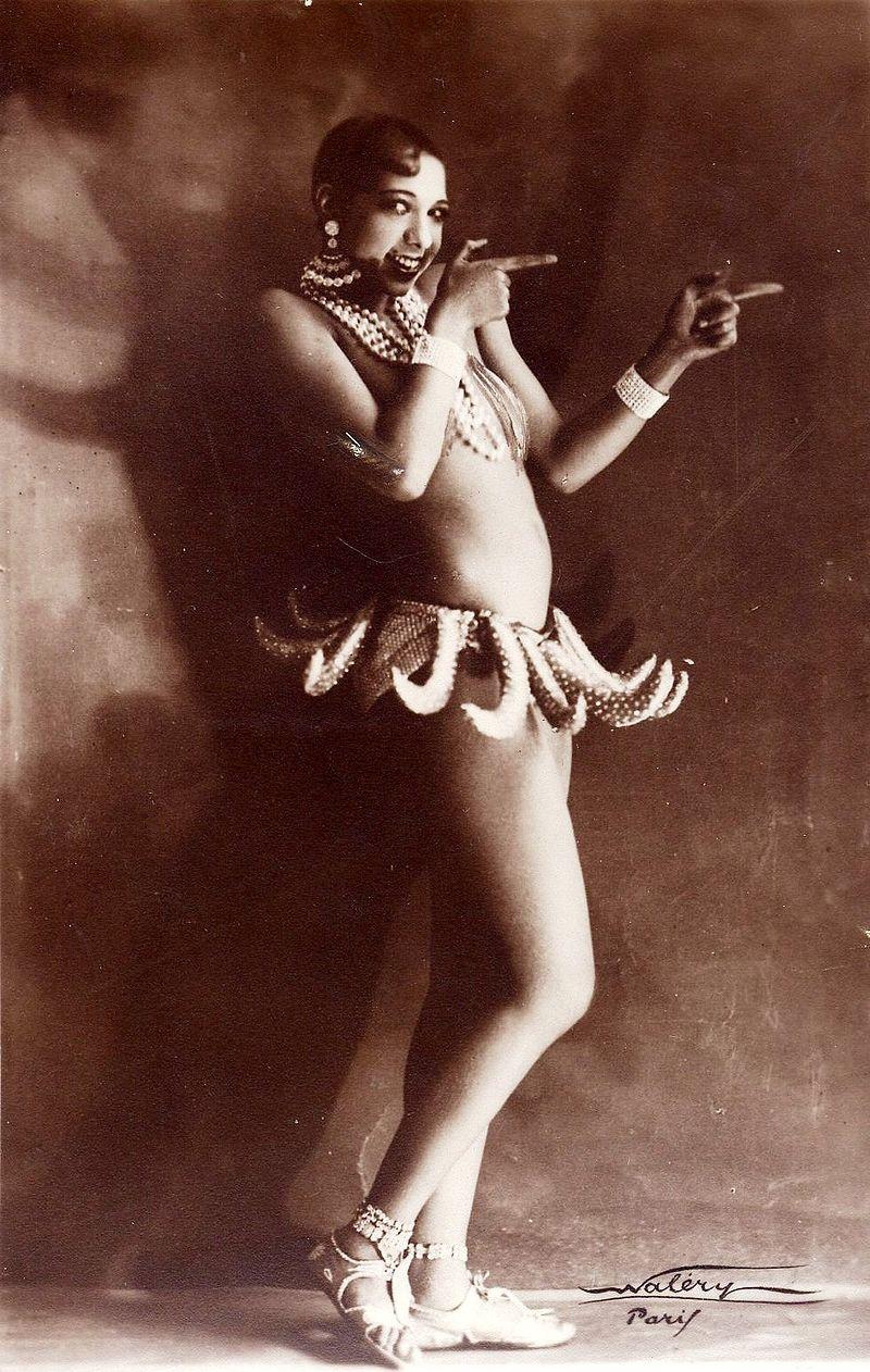 Josephine Baker in her banana costume.