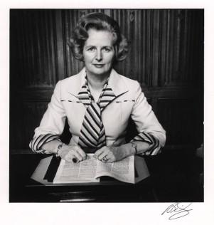 Margaret Thatcher, by David Bailey, Bromide fibre print, 1975.