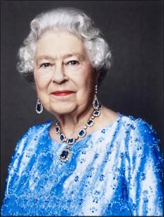 Queen Elizabeth II by David Bailey, ink jet print on paper, 2014.