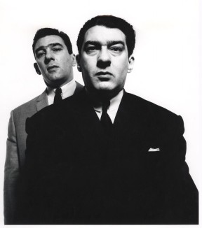 Reggie Kray and Ronnie Kray by David Bailey, bromide print, April 1965.