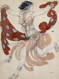 Costume of Cléopâtre for Ida Rubinstein, 1909