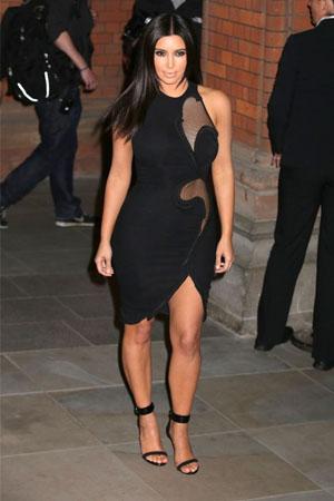 Kim Kardashian wears Stella McCartney Aertex® style panel dress