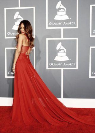 Rihanna at the 2013 Grammy Awards.