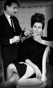 Alexandre de Paris and Sophia Loren.