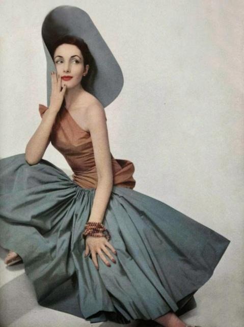 Dress by Madame Grès, 1952.