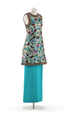 Evening Skirt with Embroidered Tunic, by Madame Grès, 1979.