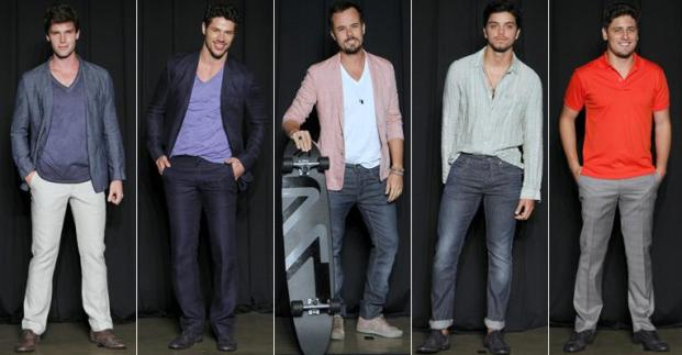 Brazilian actors wearing Ricardo Almeida.