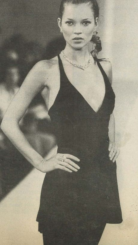 kate Moss wearing Victor Alfaro, 1994.
