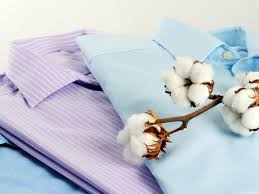 Clothes made of cotton.