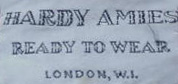 A Hardy Amies label.