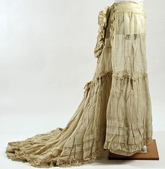"""A petticoat from the end of the 19th century without the """"Bustle""""."""