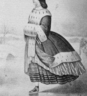 Example of a Balmoral Petticoat being used.