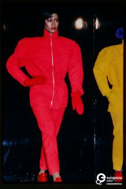 France Andrevie's Fall/Winter 1979/80 fashion show.