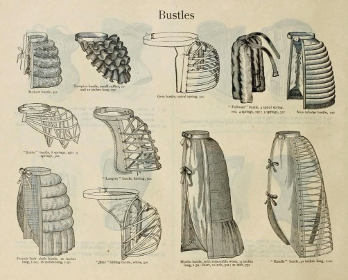 Examples of types of bustles.