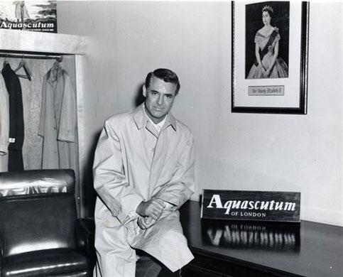 Actor Cary Grant using Aquascutum.