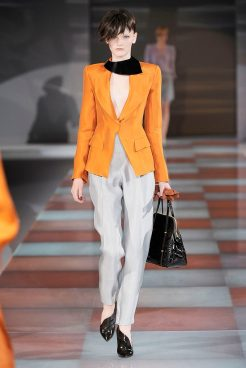 Emporio Armani - Womenswear - Fall, 2010 - Look 46 - Romana Umrianova