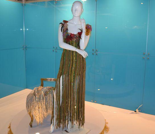 Vera Arruda's clothes on display.
