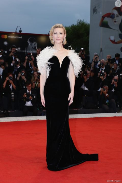 Red Carpet - Cate Blanchett wearing Armani Privé at the 75th Venice film festival in 2008 (front).