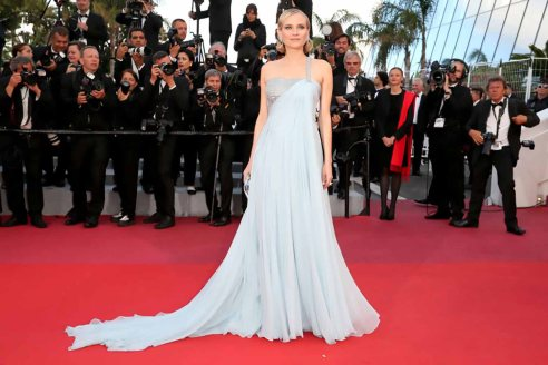 Red Carpet - Diane Kruger wearing Armani Privé at the 71st Cannes Film Festival in 2018.