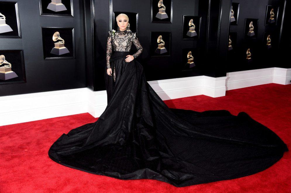 Red Carpet - Lady Gaga wearing Armani Privé at the 2008 Grammys.