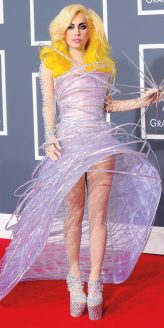 Red Carpet - Lady Gaga wearing Armani Privé at the 52nd Grammy Awards in 2010.
