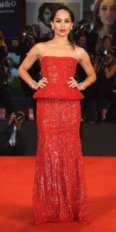 Red Carpet - Zoe Kravitz wearing Armani Privé at the 71st Venice Film Festival in 2014