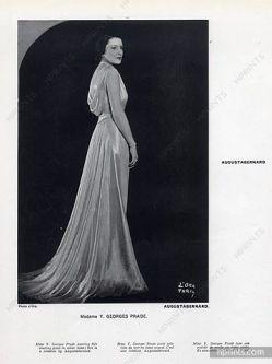 Mrs. Georges Prade wearing Augustabernard, 1933.