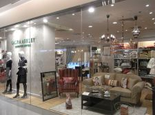 A window display of one of Laura Ashley's mall stores.