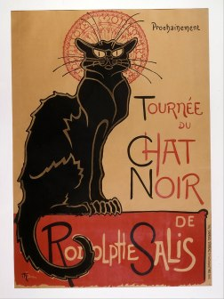 Poster by Theophile-Alexandre Steinlen for the cabaret Le Chat Noir (1896)