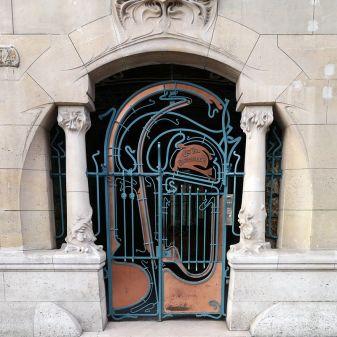 Castel Béranger by Hector Guimard, at 14 Jean de la Fontaine street, Paris.