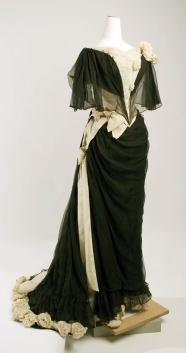 Evening dress, ca. 1890, House of Drecoll.