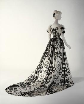 House of worth, evening dress, 1898-1900.