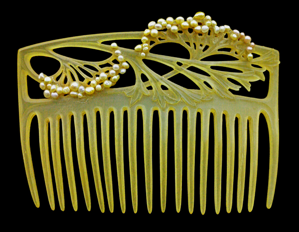 Hair accessory by Louis Aucoc.