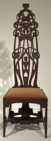 Oak chair by Charles Rohlfs, 1898-99.