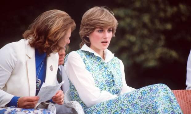 Princess Diana wearing Laura Ashley.
