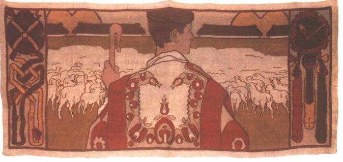 A pásztor szőnyeg by Vaszary János, 1906.