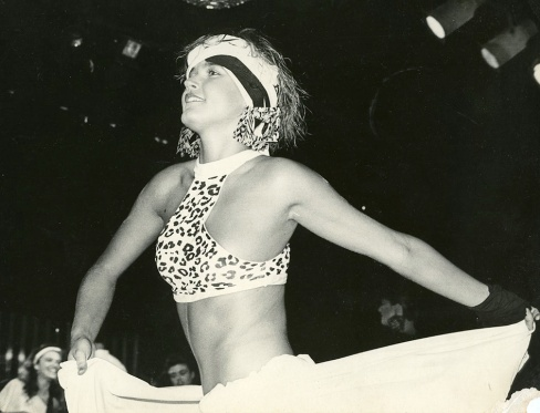 The TV show hostess Xuxa at one of Yes, Brazil's fashion shows in the 1980s.